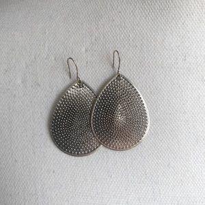 NWOT Vintage Silver Statement Earrings
